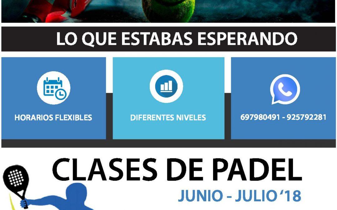—CLASES DE PADEL—