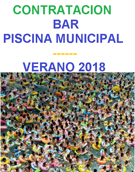 CONTRATACION BAR PISCINA MUNICIPAL
