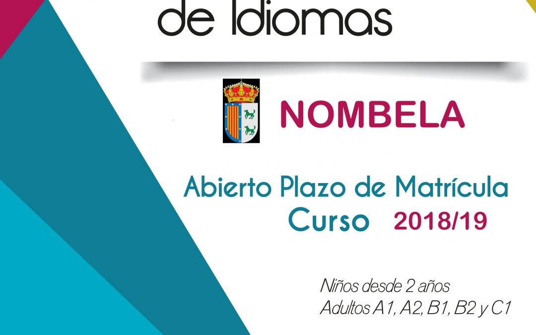 ESCUELA MUNICIPAL DE INGLES Curso 2018/2019
