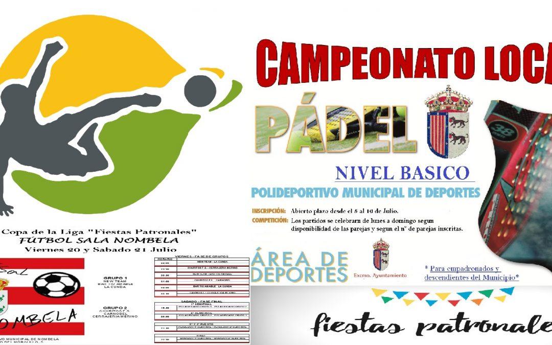 COMPETICIONES DEPORTIVAS FIESTAS PATRONALES